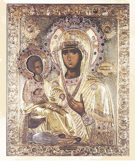 образ Богородицы «Троеручица»